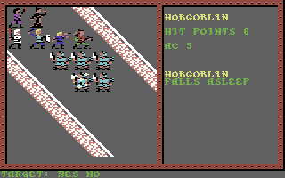Pool of Radiance Commodore 64 These hobgoblins are drifting into Dreamland...and then into Deadland.