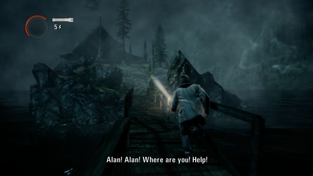 Alan Wake Xbox 360 A cabin on Diver's Isle, a place where nightmares come true.
