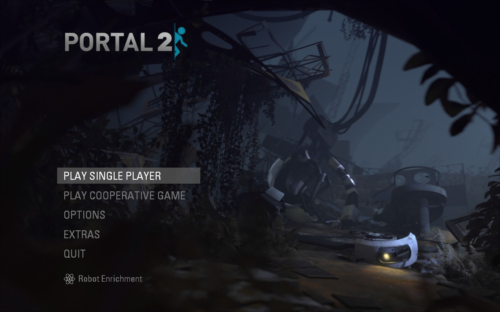 Portal 2 Windows Main menu