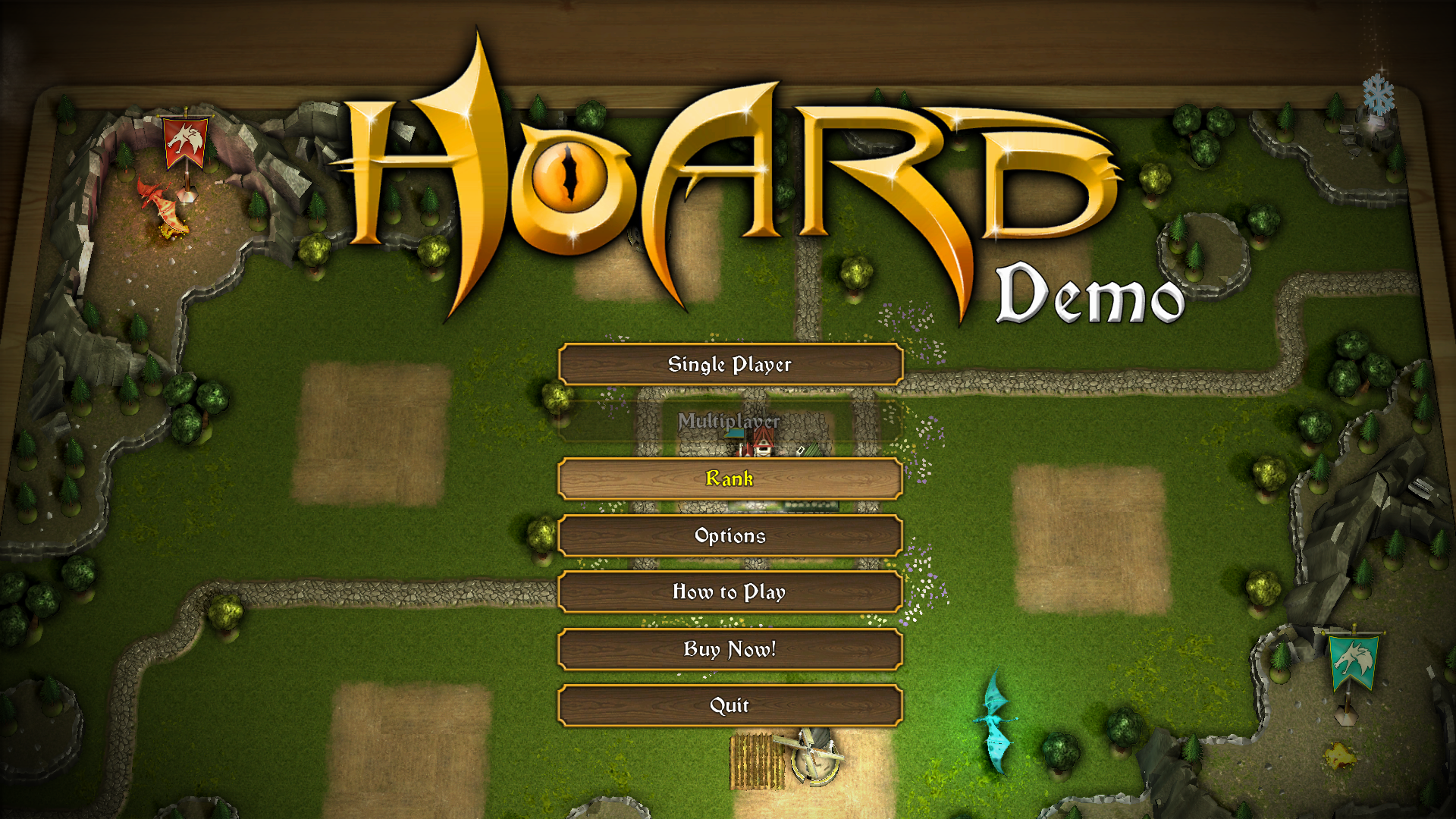 HOARD Windows Main menu