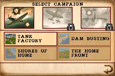 Armageddon Squadron iPhone Campaign mode menu