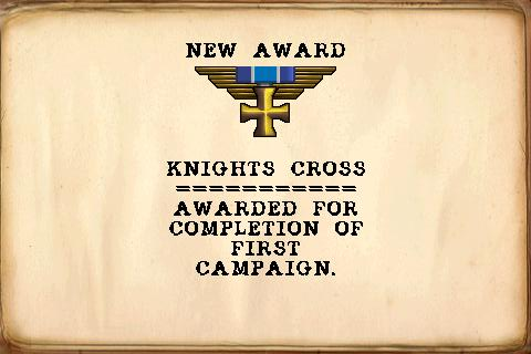 Armageddon Squadron iPhone Awarded medal - Knights cross