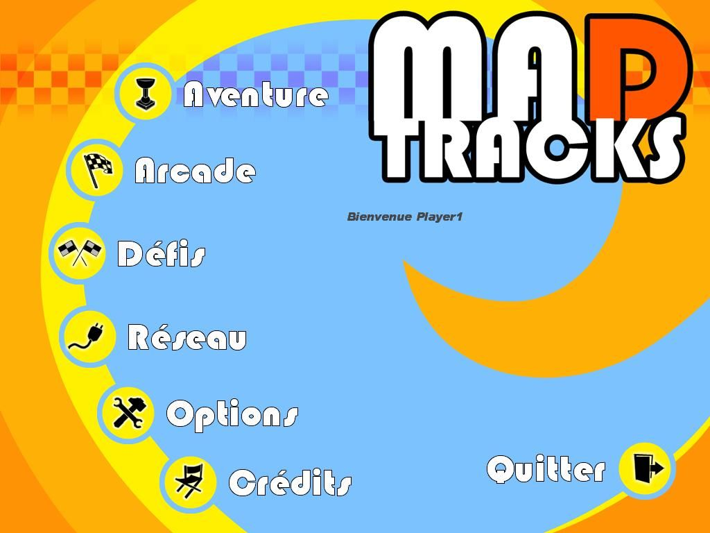 Mad Tracks Windows Menu (French)