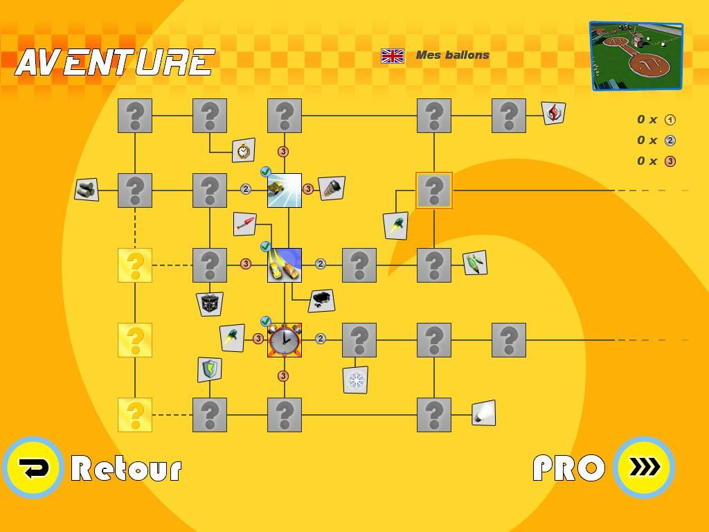 Mad Tracks Windows Have a look at all the stages of the adventure mode (French)