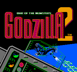 Godzilla 2: War of the Monsters NES Title Screen