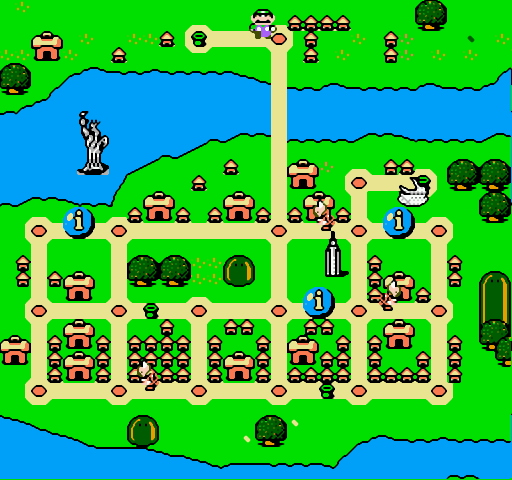 Mario is Missing! NES A map of each city will help you get your bearings and find koopas as well as tourist attractions