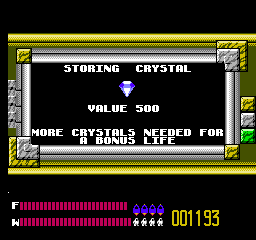 Solar Jetman: Hunt for the Golden Warpship NES The crystals you collect along the way are rare and valuable and shiny