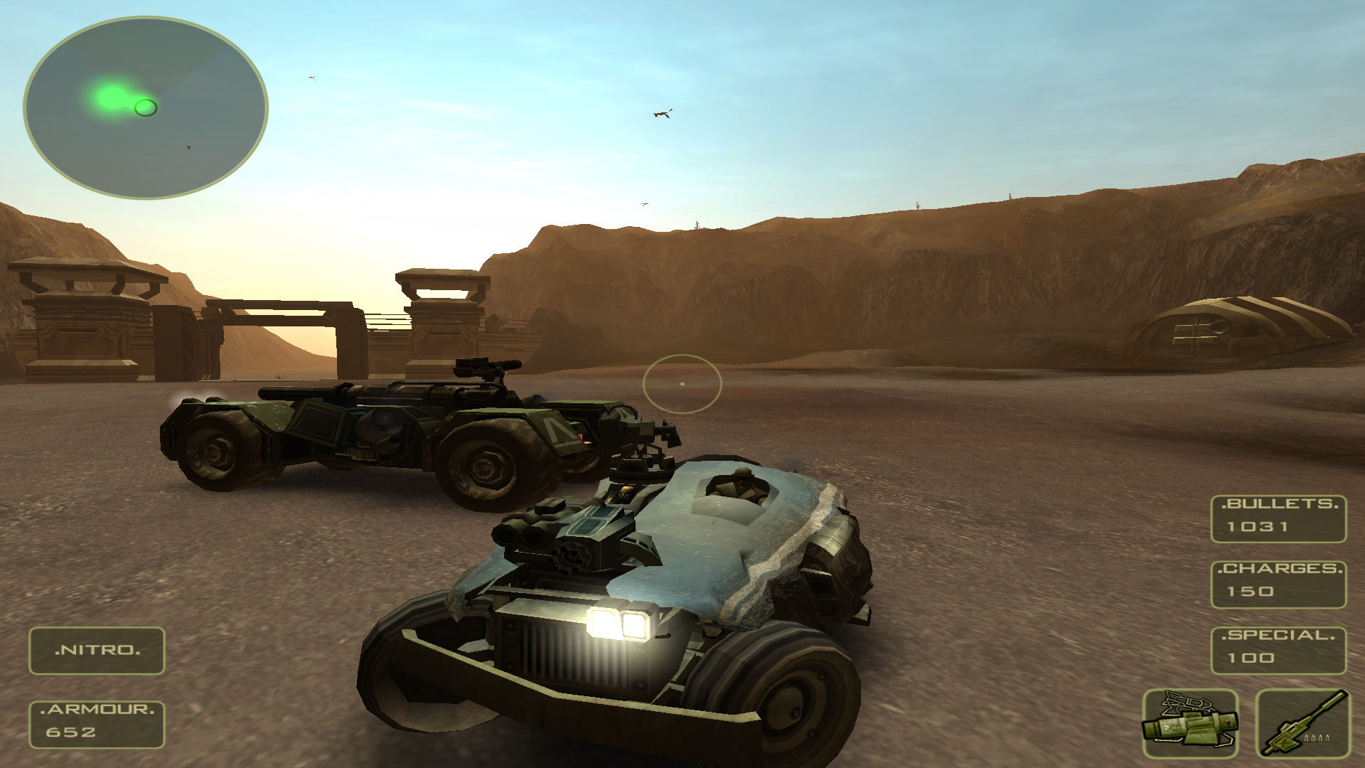 Bandits: Phoenix Rising Windows A new car! More weapon slots, armour and fun.