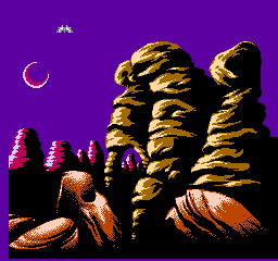 Solar Jetman: Hunt for the Golden Warpship NES There are plenty of planets to explore, like this one. Some of the best graphics to ever grace a NES.
