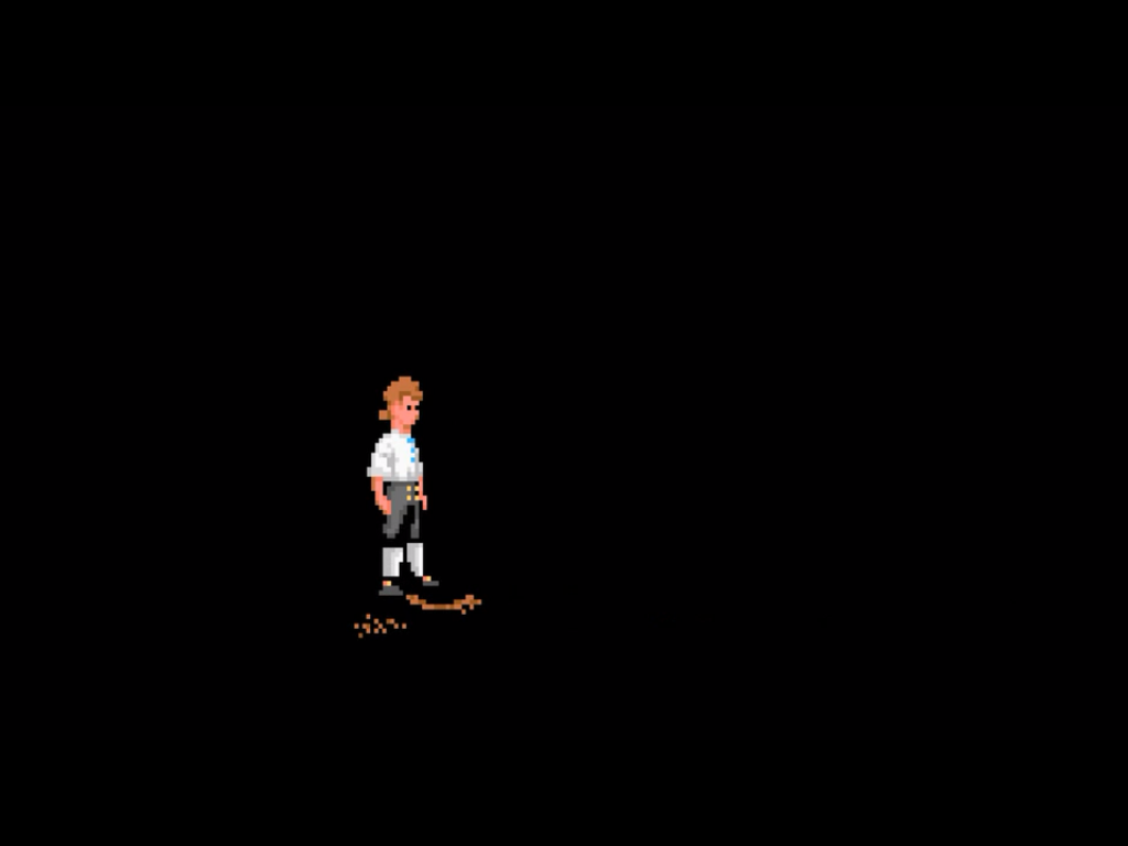 The Secret of Monkey Island: Special Edition iPad A nostalgic animation with the old graphics, as Guybrush presents the company logo... :)