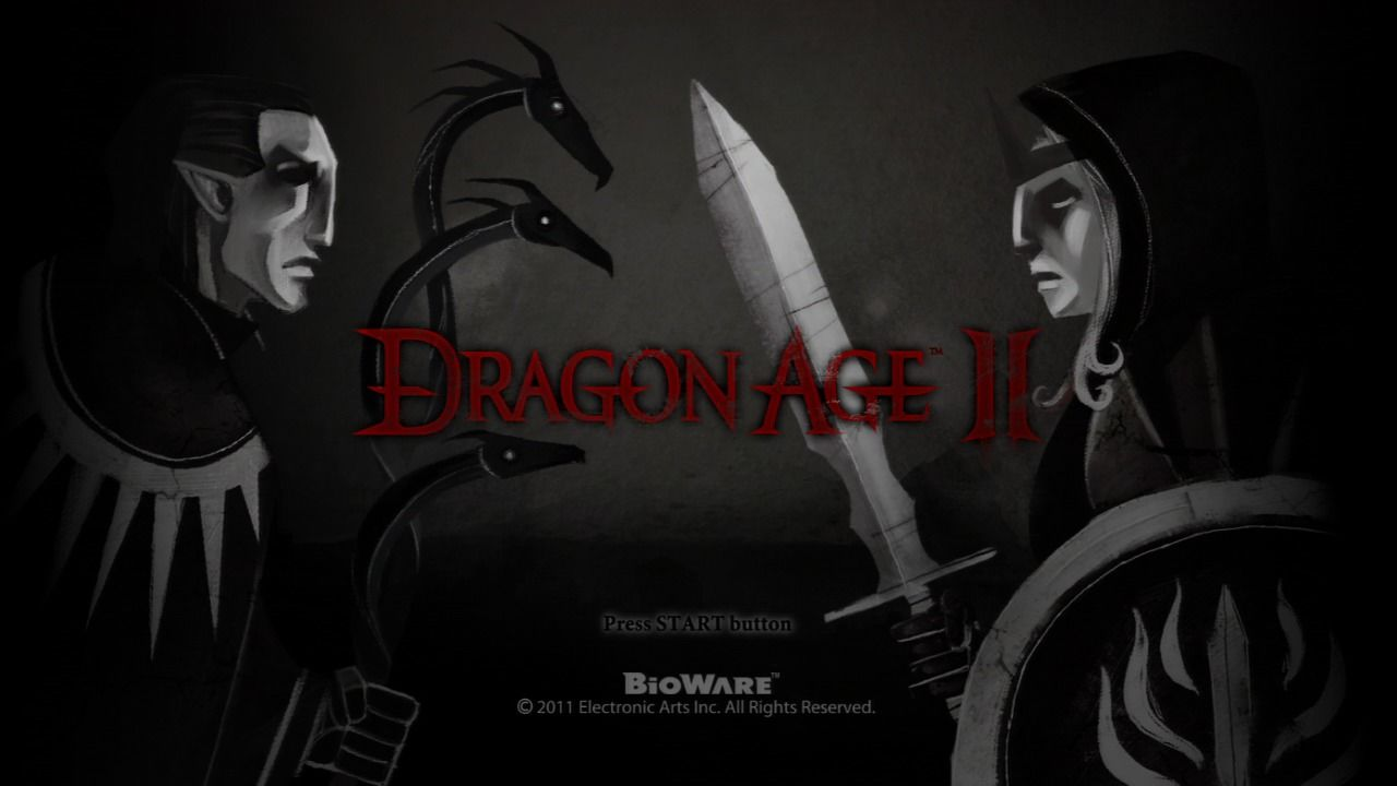 Dragon Age II PlayStation 3 Main title.