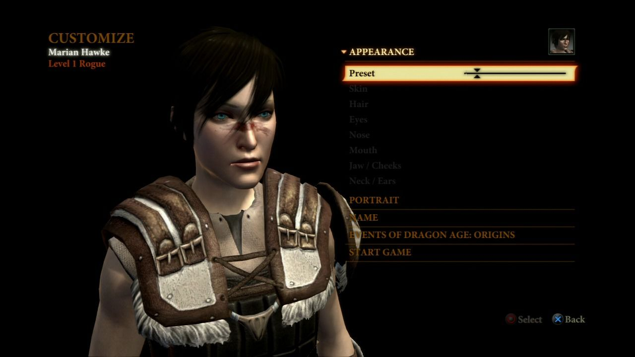Dragon Age II PlayStation 3 Customize your character.