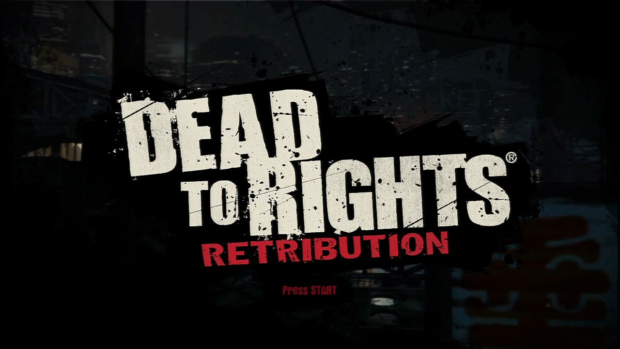 Dead to Rights: Retribution PlayStation 3 Main title.