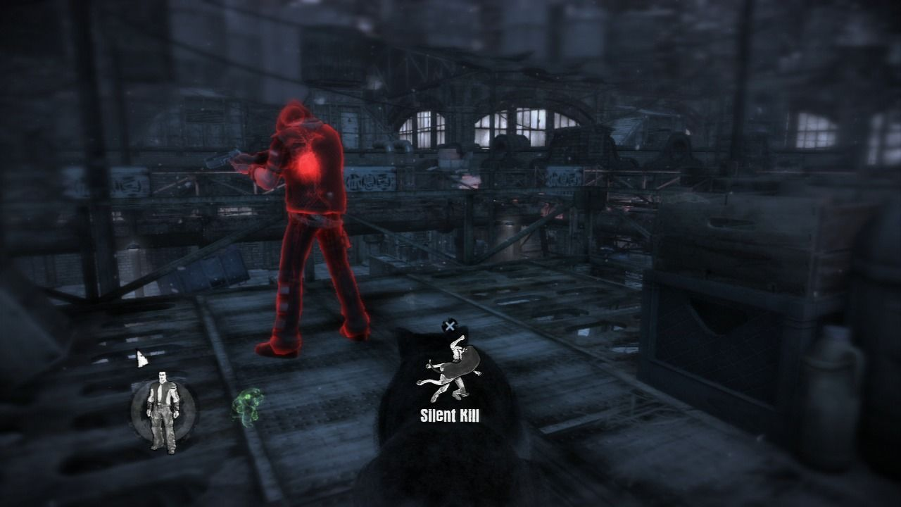 Dead to Rights: Retribution PlayStation 3 Sneak up to the enemy for a silent kill.