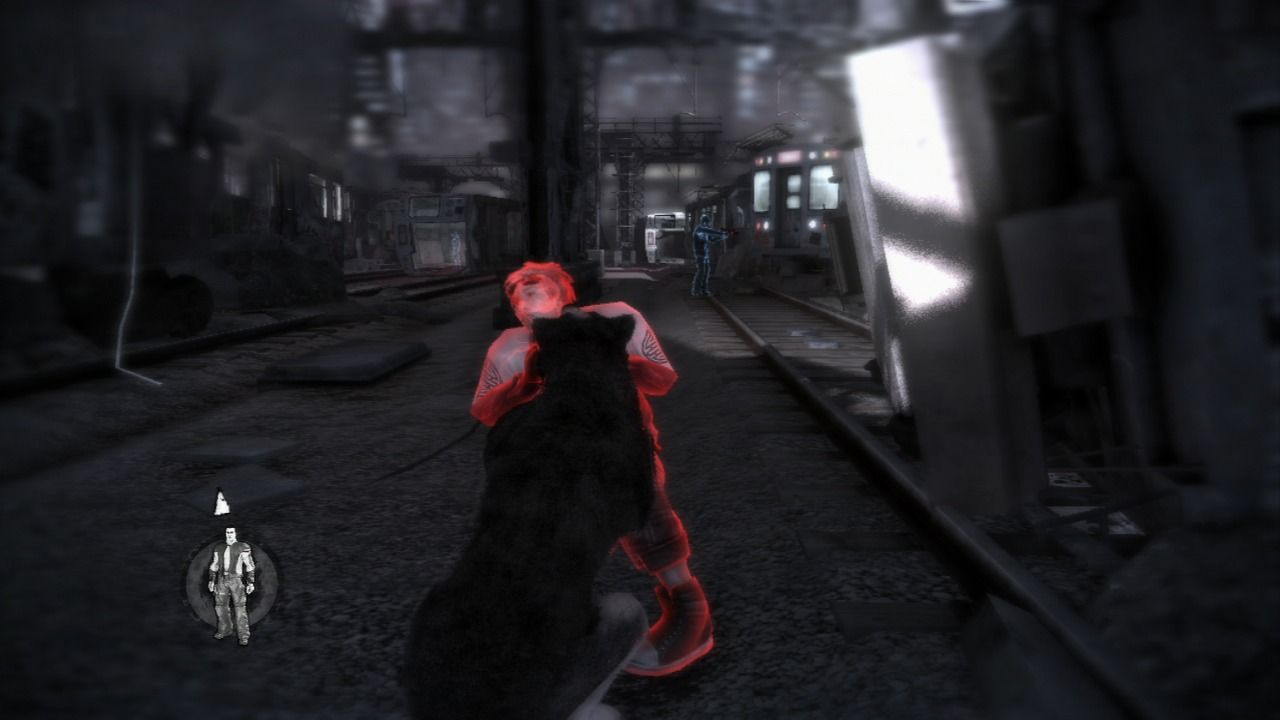 Dead to Rights: Retribution PlayStation 3 Red enemies are aware of your presence, but in this case it is too late as Shadow aims for the throat.