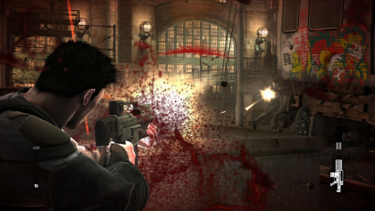 Dead to Rights: Retribution PlayStation 3 You are easy target for the enemy when in the open.