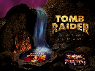 Tomb Raider PlayStation The Greatest Hits release of Tomb Raider featured demos of Tomb Raider 2 and Fighting force.