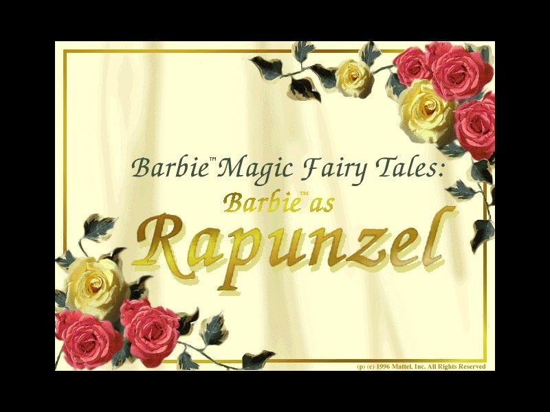Magic Fairy Tales: Barbie as Rapunzel Windows The game's load screen