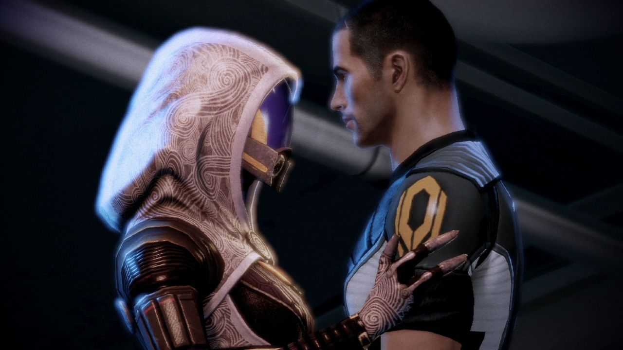 Mass Effect 2 PlayStation 3 Mass Effect 2 - One of the many possible romance options, this one is with Tali'Zorah vas Normandy