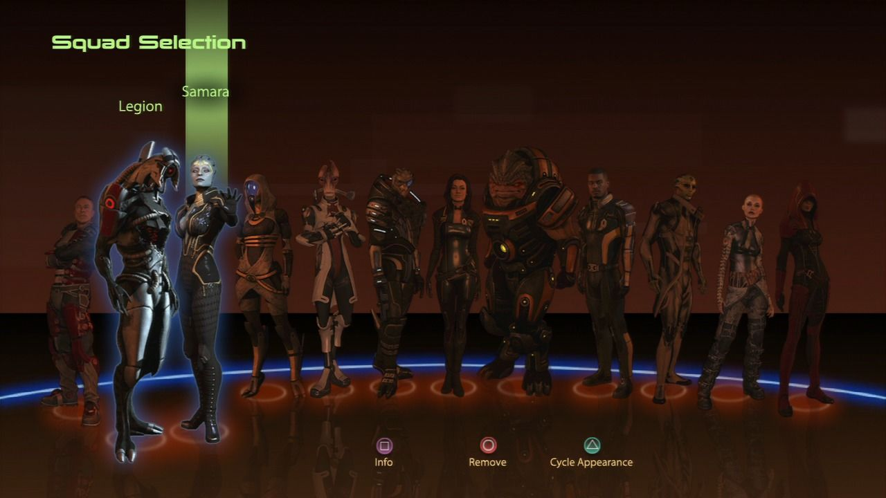 Mass Effect 2 PlayStation 3 Full team assembled and loyal.