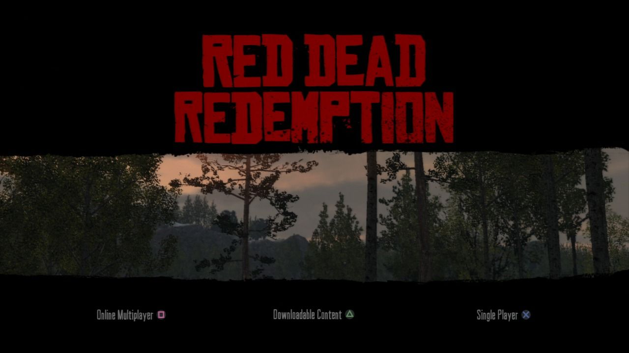 Red Dead Redemption PlayStation 3 Main menu.