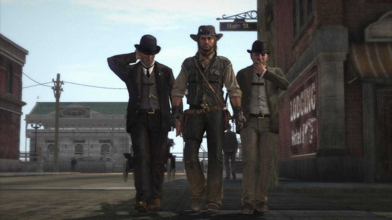 Red Dead Redemption PlayStation 3 Escorted by two federal agents on a mission to do some dirty work for them.