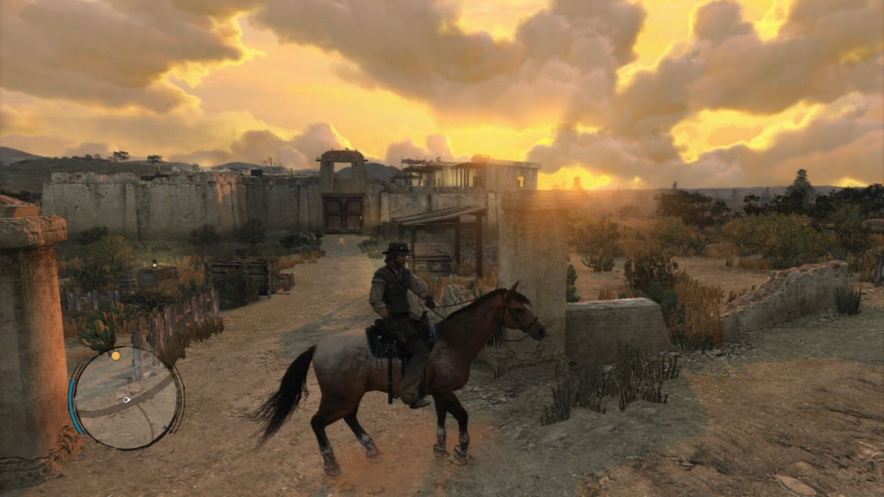 Red Dead Redemption PlayStation 3 Arriving at the fort Mercer, where your old gang use to hang.
