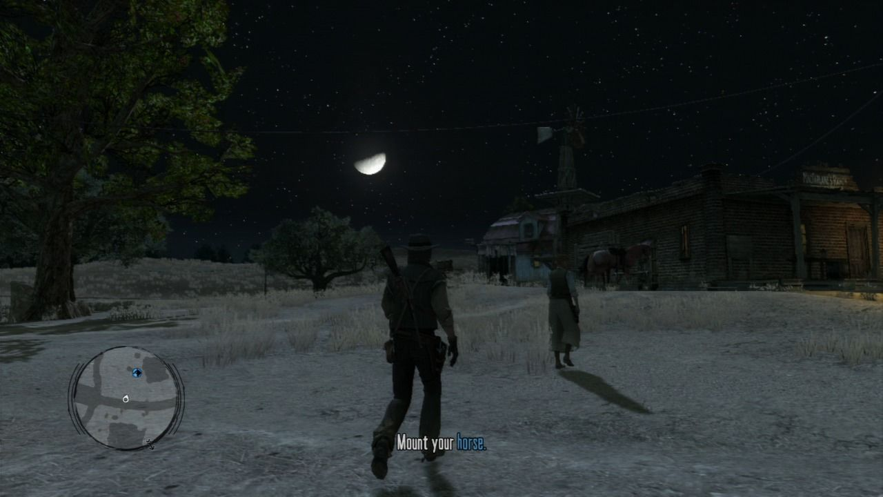 Red Dead Redemption PlayStation 3 Game features night and day cycles, and during nighttime stores will be closed, but saloons and brothels may be busier.