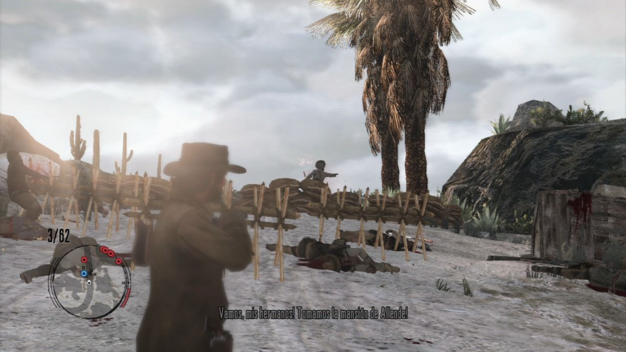 Red Dead Redemption PlayStation 3 Auto-aiming feature can be a great help with multiple enemy targets around, you need to holster and aim to reacquire new target every time.