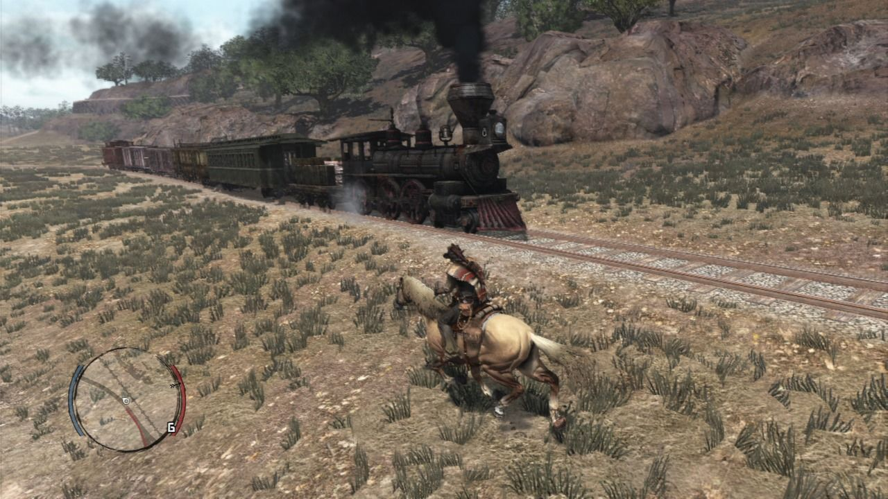 Red Dead Redemption PlayStation 3 Life if active in the world, trains and other riders will constantly cross your way... you can also ride trains which may save you some galloping time.