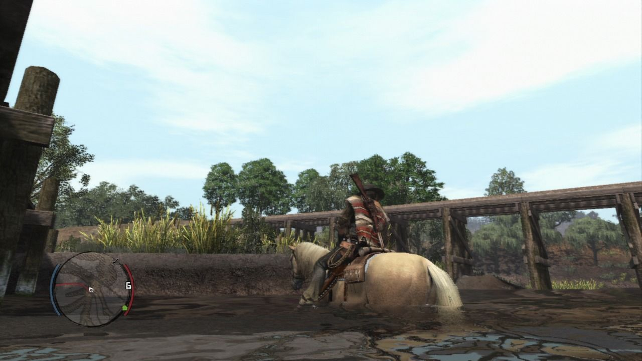 Red Dead Redemption PlayStation 3 Very rare occasional shallow waters can be crossed on a horse.