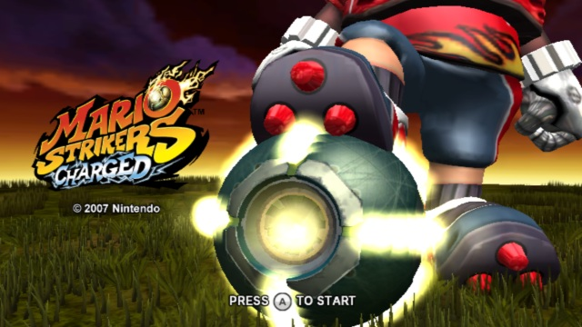 Mario Strikers Charged Wii Title Screen