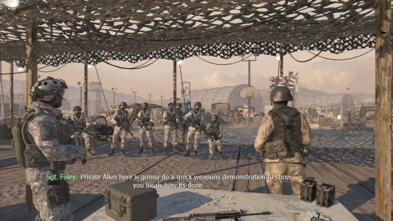 Call of Duty: Modern Warfare 2 PlayStation 3 Every CoD game starts with a training mission.