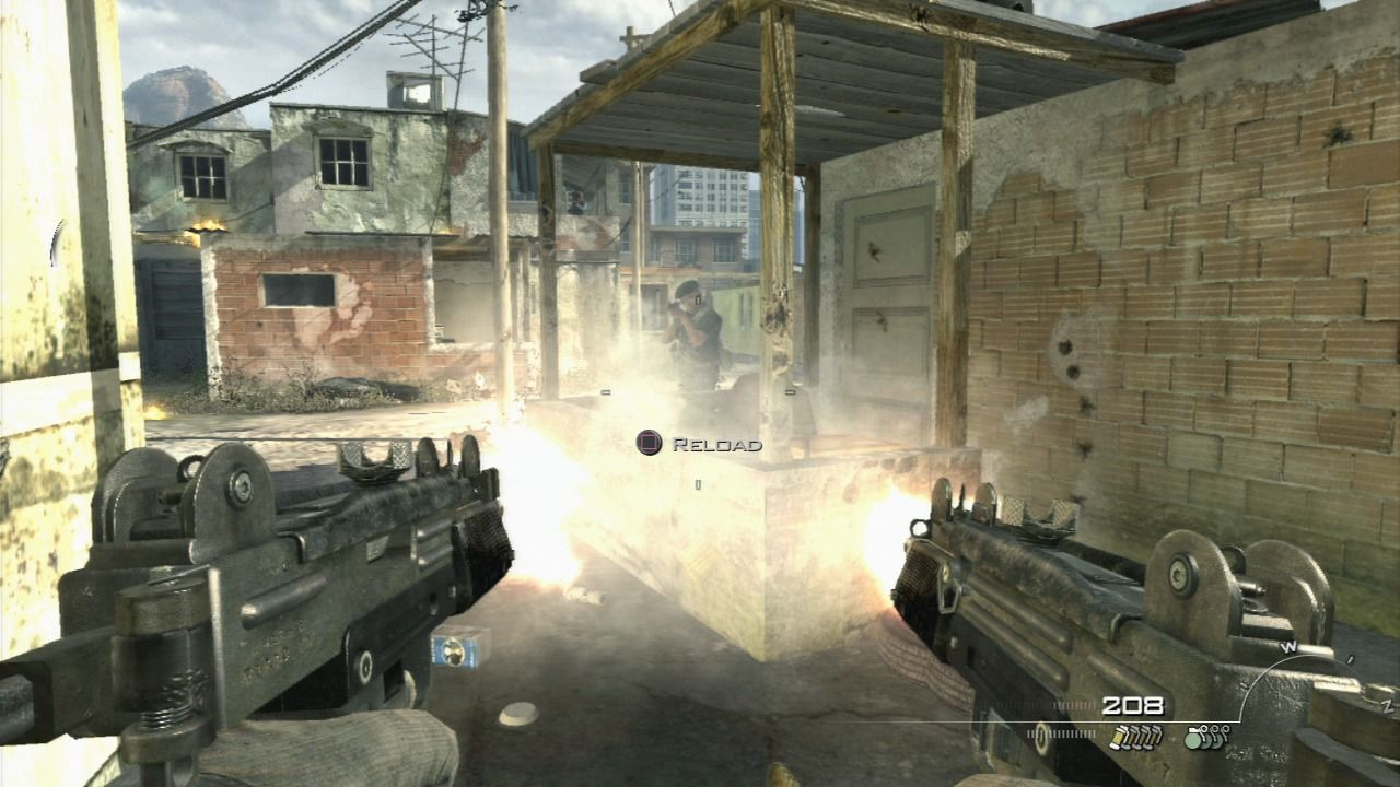 Call of Duty: Modern Warfare 2 PlayStation 3 You can pick up any weapon left by the enemy soldiers, you're sure to find more ammo for it.