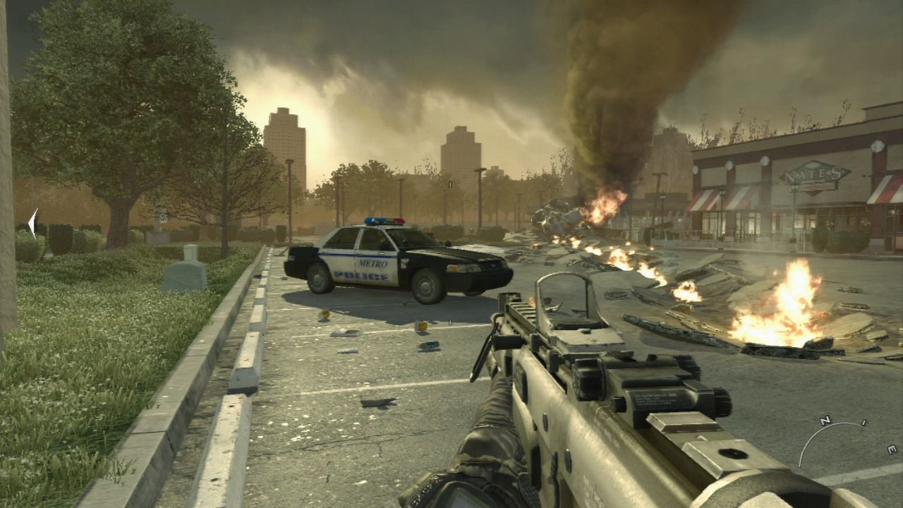 Call of Duty: Modern Warfare 2 PlayStation 3 There is no respect for the law, US has officially became a war zone.