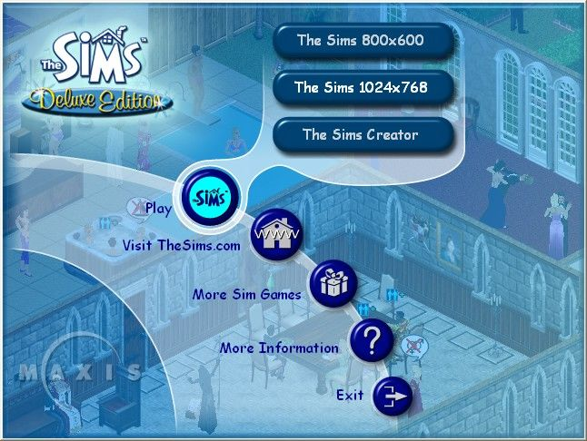 The Sims: Complete Collection Windows The Sims has just been installed. No Add-ons have been loaded at this point. This is the main menu.