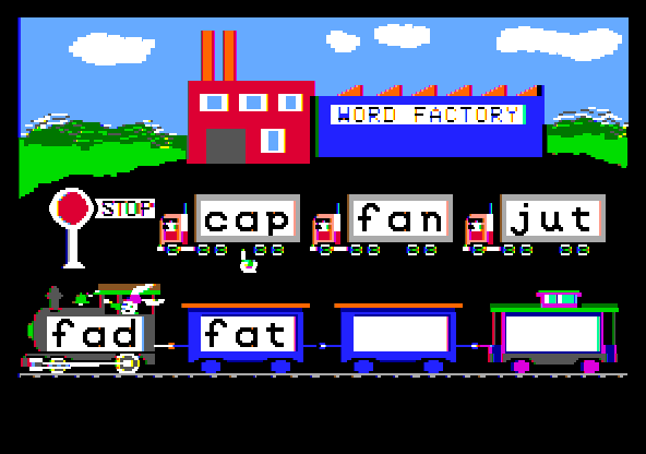 Reader Rabbit Apple IIgs Word Train.