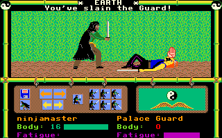 Moebius: The Orb of Celestial Harmony Amiga Defeating the guard recovers my stolen items and gives experience points
