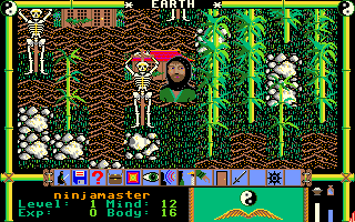 Moebius: The Orb of Celestial Harmony Amiga Skeletons are hung up ominously