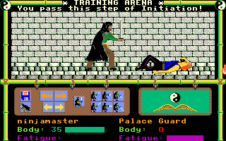 Moebius: The Orb of Celestial Harmony Amiga Success at the sword fighting training