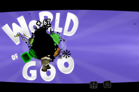 World of Goo iPhone World of Goo, title screen