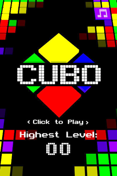 Cubo Browser Starting screen