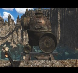 Riven: The Sequel to Myst PlayStation The lagoon submarine waiting to be launched