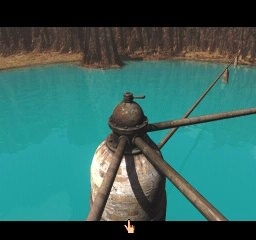 Riven: The Sequel to Myst PlayStation In the middle of crater island lake a boiler value junction switch