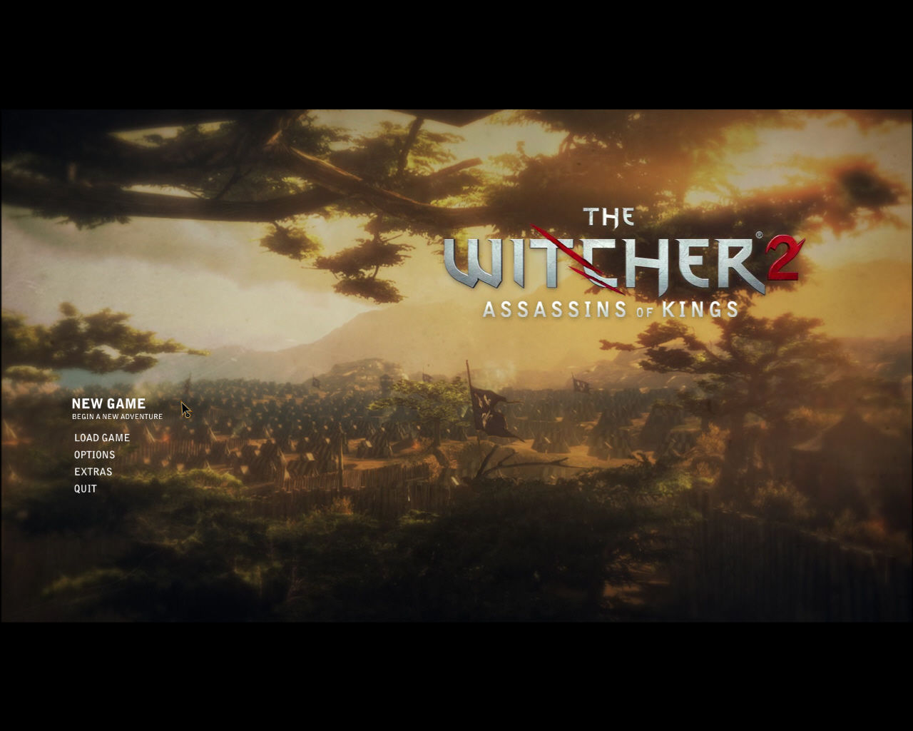 The Witcher 2: Assassins of Kings Windows Main Menu