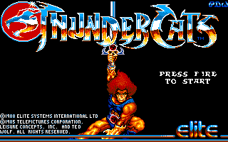 Thundercats Amiga Title screen