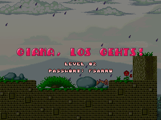 Giana's Return Linux Level introductory screen with password
