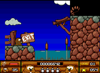 Beavers Amiga Reached the exit of level one
