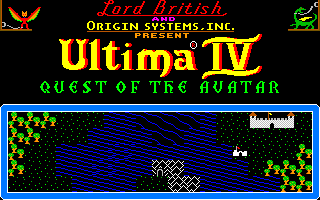 Ultima IV: Quest of the Avatar Amiga Title screen