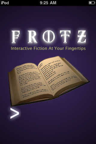 Frotz (included games) iPhone Title screen
